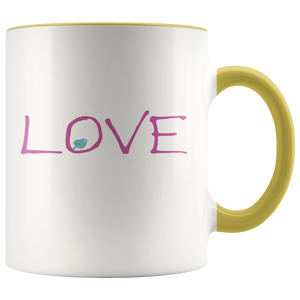 Love Coffee Mug Valentines Day Word Simple Gift - Hundredth Monkey Tees