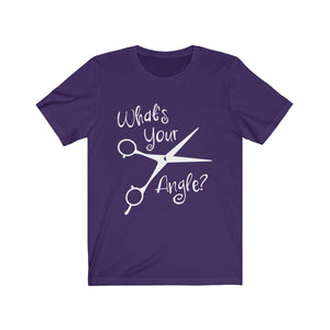 What's Your Angle Funny Hairdresser Hair Salon Stylist T-Shirt - Hundredth Monkey Tees