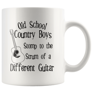 Old School Country Boys Funny Coffee Mug Music Guitar Lovers - Hundredth Monkey Tees