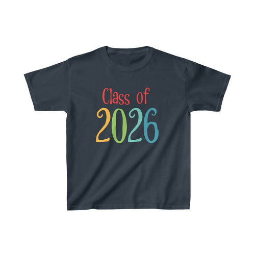 Youth Shirt Class of 2026 Graduation Boys Girls Grade School Kids - Hundredth Monkey Tees