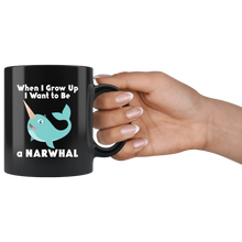 Load image into Gallery viewer, Narwhal When I Grow Up Cute Animal Coffee Mug