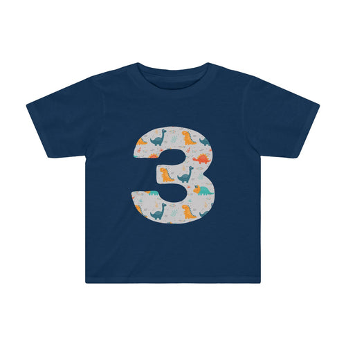Toddler Number #3 Years Old Dinosaurs Shirt Birthday Three - Hundredth Monkey Tees