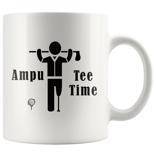 Funny Amputee Golf Coffee Mug Ampu Tee Time Gift - Hundredth Monkey Tees