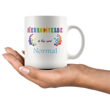 Load image into Gallery viewer, Neurodiverse Coffee Mug Celebrate Neurodiversity in Family Friends Society - Hundredth Monkey Tees