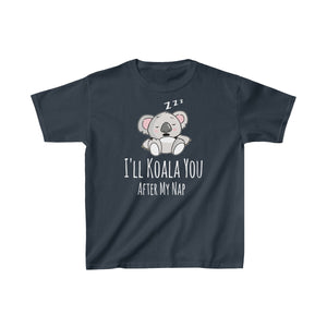 Youth Cute Koala Bear T-Shirt Napping Funny Animal Saying Kids Heavy Cotton Tee - Hundredth Monkey Tees