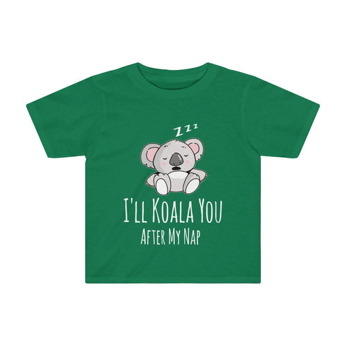 Toddler Cute Koala Bear T-Shirt Napping Funny Animal Saying - Hundredth Monkey Tees