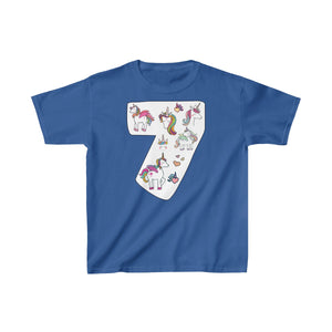 Youth Shirt Number #7 Years Old Alicorn Unicorn T-Shirt Birthday Seven - Hundredth Monkey Tees