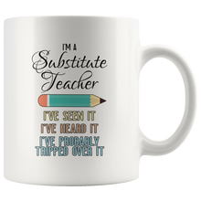 Load image into Gallery viewer, Substitute Teacher Coffee Mug Funny Saying School Gift
