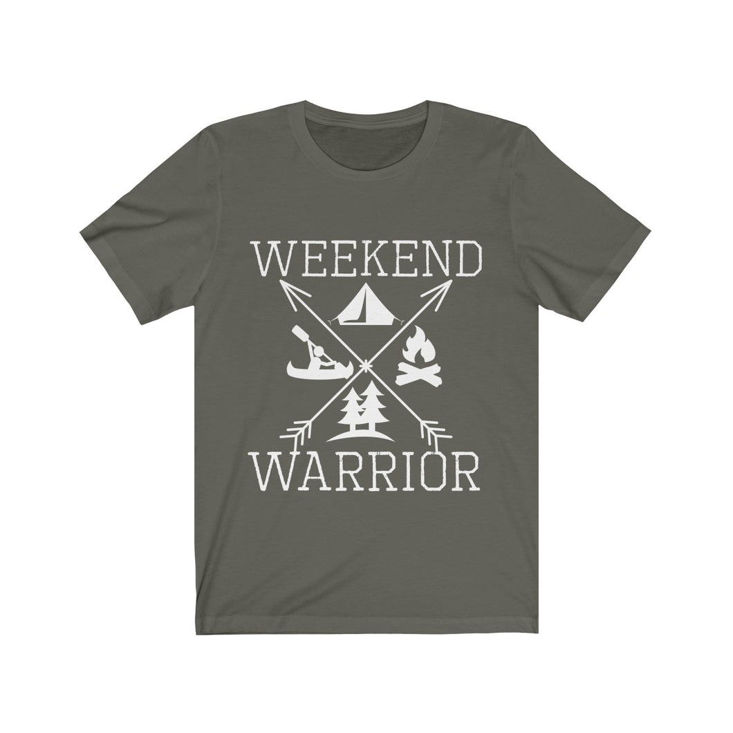 Weekend Warrior Camping Shirt Cross Arrows Men Women T-shirt - Hundredth Monkey Tees