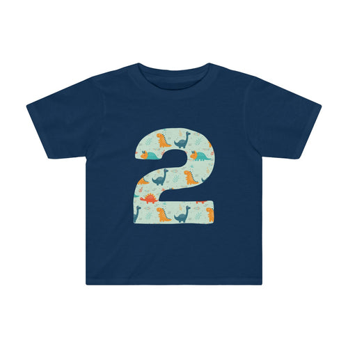 Toddler Number #2 Years Old Dinosaurs Shirt Birthday Two - Hundredth Monkey Tees