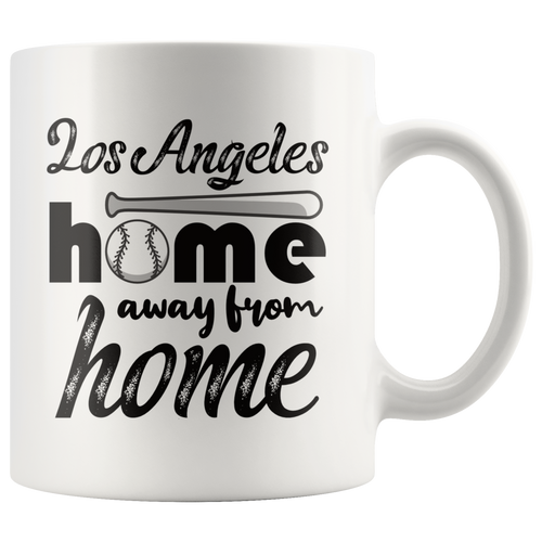 Los Angeles Baseball Coffee Mug California Sports Fans Mug - Hundredth Monkey Tees