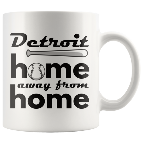 Detroit Baseball Coffee Mug Michigan Sports Fans Mug - Hundredth Monkey Tees