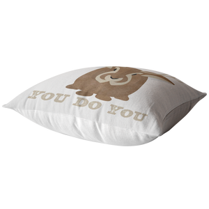 You Do You Throw Pillow Jackalope Cryptid Funny Cute Gift