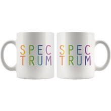 Load image into Gallery viewer, Spectrum Neurodiversity Coffee Mug Autism Awareness Empowerment Rainbow Mug - Hundredth Monkey Tees