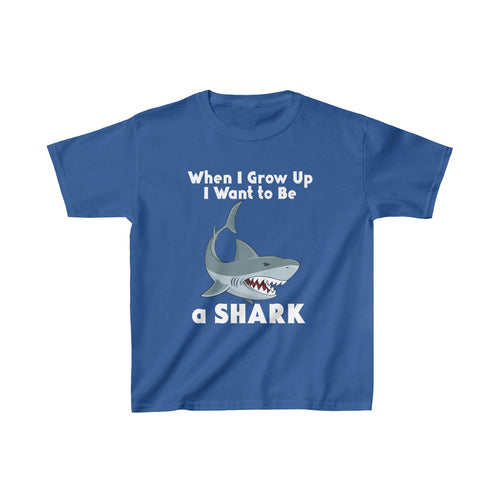 Youth Shirt Shark When I Grow Up Cute Sea Creature Tee - Hundredth Monkey Tees