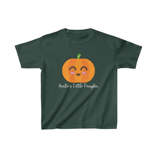 Youth Size: Auntie's Little Pumpkin Cute Halloween Thanksgiving Shirt - Hundredth Monkey Tees