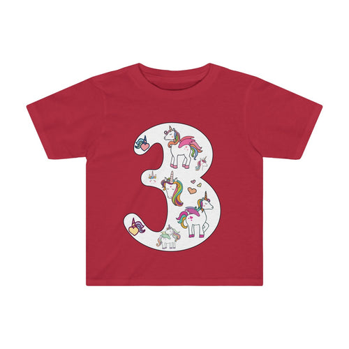 Toddler Shirt Number #3 Years Old Alicorn Unicorn T-Shirt Birthday Three - Hundredth Monkey Tees