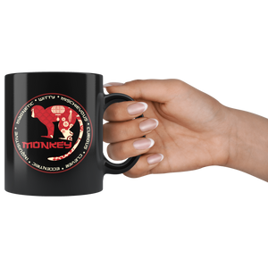Chinese Zodiac Year of the Monkey Coffee Mug Astrology Horoscope Gift - Hundredth Monkey Tees
