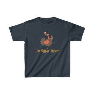 Youth Shirt Funny Thanksgiving T-shirt The Biggest Turkey - Hundredth Monkey Tees
