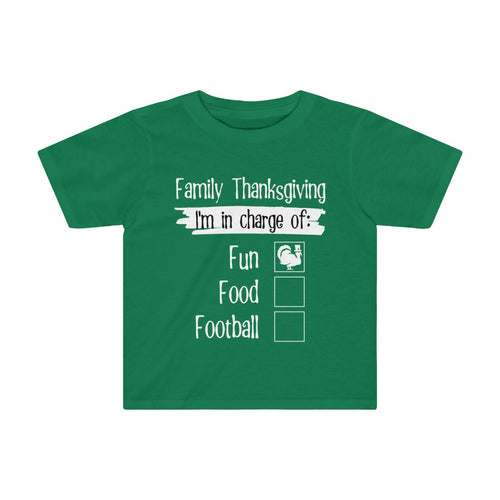 Toddler Sizes: Thanksgiving Matching Family Reunion Shirts I'm in Charge of Fun - Hundredth Monkey Tees