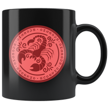 Load image into Gallery viewer, Scorpio Birthday Astrology Zodiac Birth Signs Coffee Mug Black - Hundredth Monkey Tees
