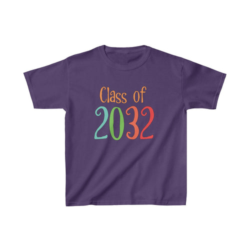 Youth Shirt Class of 2032 Graduation Boys Girls Grade School Kids - Hundredth Monkey Tees