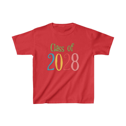 Youth Shirt Class of 2028 Graduation Boys Girls Grade School Kids - Hundredth Monkey Tees