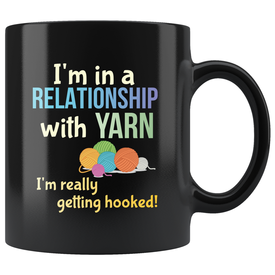 Funny Yarn Knitters Crochet Crafters Coffee Mug Committed Relationship Pun - Hundredth Monkey Tees