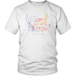 We're All a Bunch of Animals Rainbow Wild African Nature T Shirt - Hundredth Monkey Tees