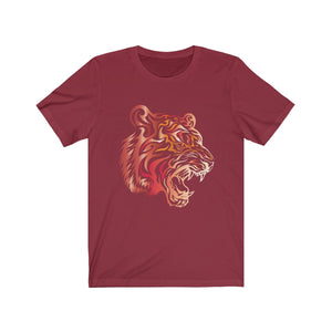Tribal Tiger T-shirt Tattoo Style Big Cat Mascot Jersey Short Sleeve Tee - Hundredth Monkey Tees