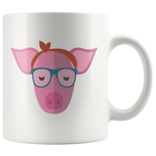 Load image into Gallery viewer, Cute Hipster Pig Coffee Mug Bandana Glasses Funny Farmer Gift - Hundredth Monkey Tees