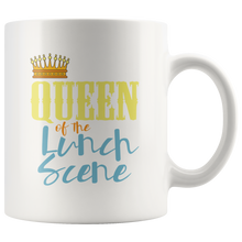 Load image into Gallery viewer, Lunch Lady Coffee Mug Funny Queen of the Lunch Scene Mom Gift - Hundredth Monkey Tees