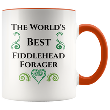 Load image into Gallery viewer, Fiddlehead Foraging Coffee Mug Maine Canada Springtime Hobby - Hundredth Monkey Tees
