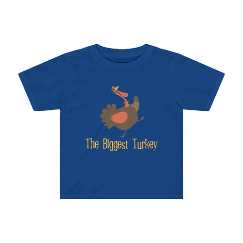 Toddler Sizes: Funny Thanksgiving T-shirt The Biggest Turkey - Hundredth Monkey Tees