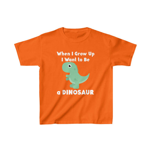 Youth Shirt Dinosaur When I Grow Up Funny Cute Tee - Hundredth Monkey Tees