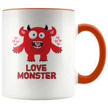 Load image into Gallery viewer, Love Monster Coffee Mug Valentine's Day Vday Love - Hundredth Monkey Tees