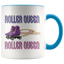 Load image into Gallery viewer, Roller Queen Skating Coffee Mug Vintage Style Skates Rainbows - Hundredth Monkey Tees