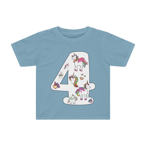 Toddler Shirt Number #4 Years Old Alicorn Unicorn T-Shirt Birthday Four - Hundredth Monkey Tees