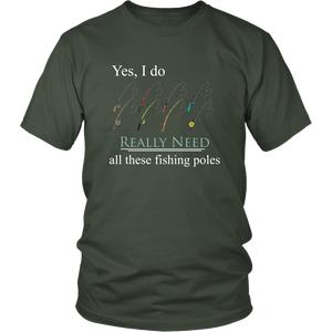 Fishing Pole Fisherman Tshirt Collectors Funny Hobby Addict Shirt - Hundredth Monkey Tees