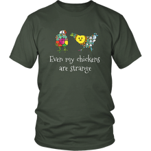 Load image into Gallery viewer, Weird Chickens Tshirt Gift for Farmers Farm Girls Hipsters - Hundredth Monkey Tees
