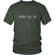 Load image into Gallery viewer, Wake Up, Yo Funny Spiritual Woke Humor Tshirt - Hundredth Monkey Tees