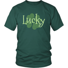 Load image into Gallery viewer, Lucky Green Shirt Shamrock 4 Leaf Clover Charm T-shirt - Hundredth Monkey Tees