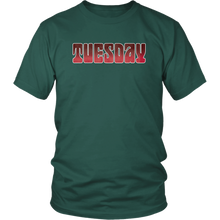 Load image into Gallery viewer, Tuesday Shirt Groovy Days of the Week Tshirt - Hundredth Monkey Tees