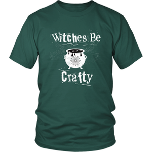 Witches Be Crafty Fun Witchcraft Tshirt - Hundredth Monkey Tees