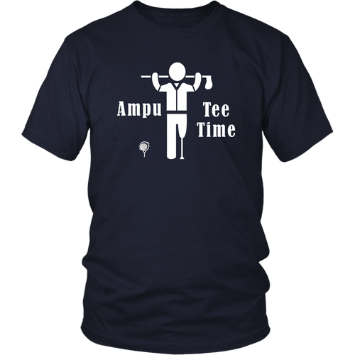 Funny Amputee Golf Shirt Ampu Tee Time T-shirt - Hundredth Monkey Tees