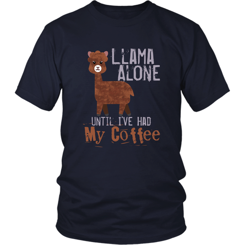 Llama Shirt Women Cute Tshirt Alpaca Funny Coffee Saying