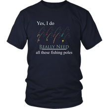 Load image into Gallery viewer, Fishing Pole Fisherman Tshirt Collectors Funny Hobby Addict Shirt - Hundredth Monkey Tees