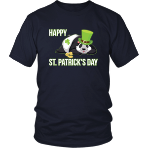 Irish Panda Happy St Patricks Day Tshirt Shamrock Leprechaun Gift - Hundredth Monkey Tees