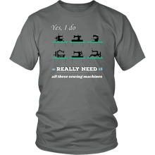 Load image into Gallery viewer, Vintage Sewing Machine Collectors Lovers Funny Humor Tshirt - Hundredth Monkey Tees