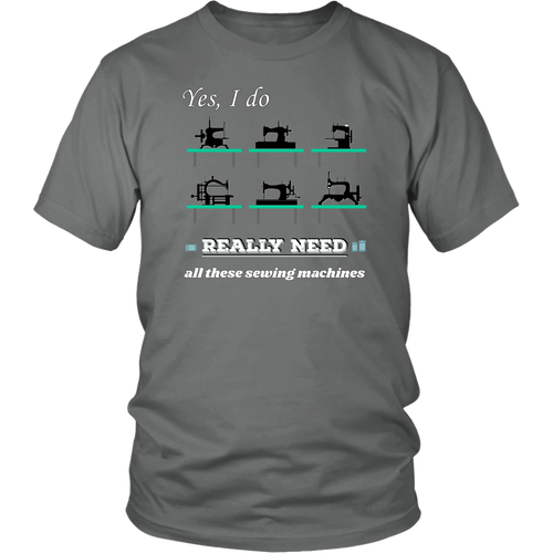 Vintage Sewing Machine Collectors Lovers Funny Humor Tshirt - Hundredth Monkey Tees